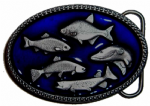 Carp, Salmon, Trout, Pike, Chub Fish Belt Buckle with display stand. Product code: MJ5